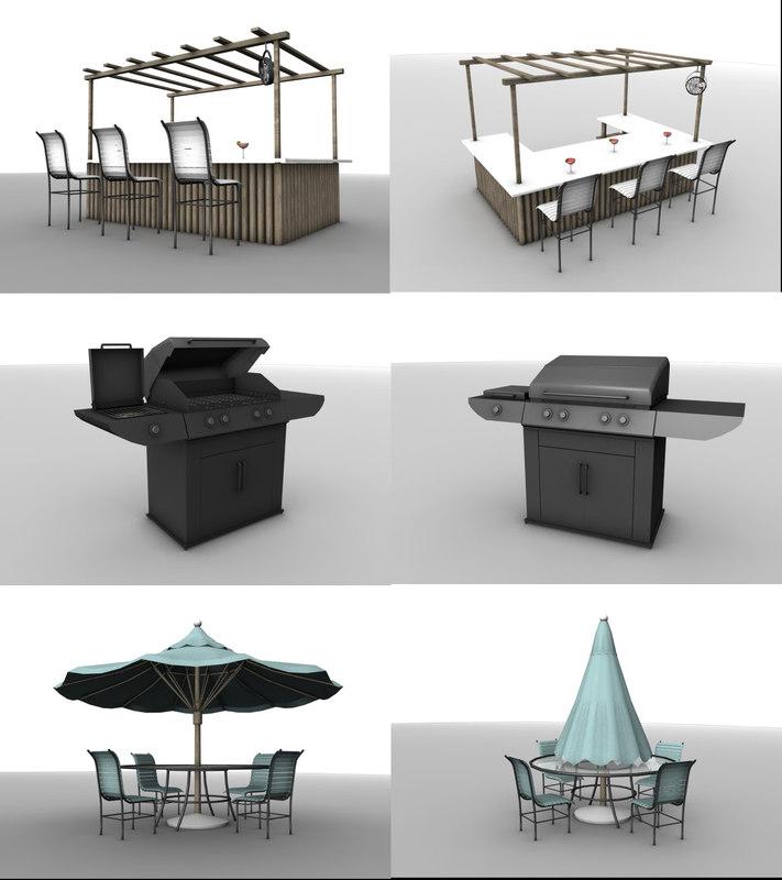 outdoor furniture 2 1 obj