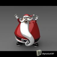 santa claus christmas 3d model
