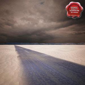 c4d desert road