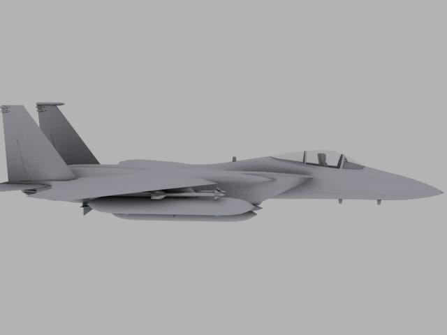 f-15 eagle jet fighter 3d model
