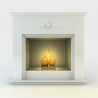 classic flueless fireplace realistic 3ds