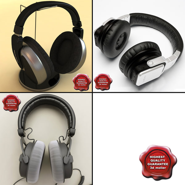 lightwave headphones modelled