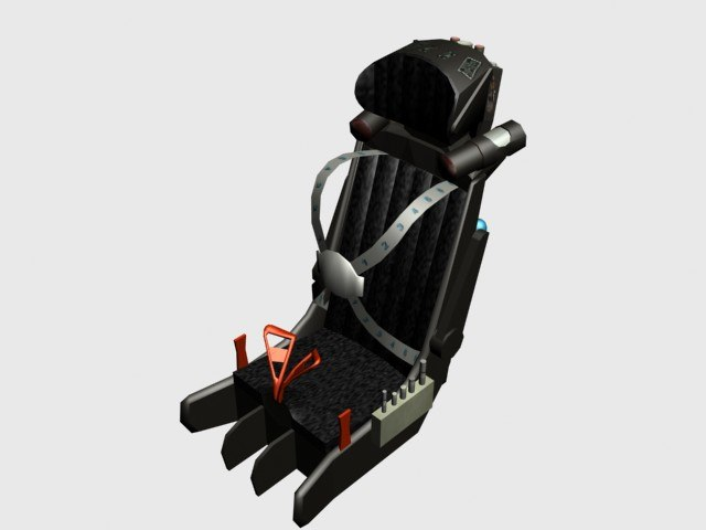 zvezda k-36d ejection seat 3d model