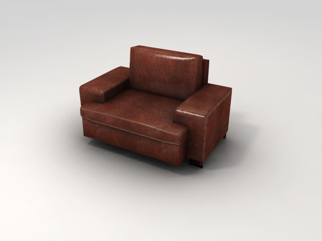 3d nice leather chair