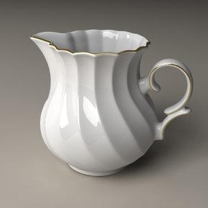 lightwave milk pot porcelain