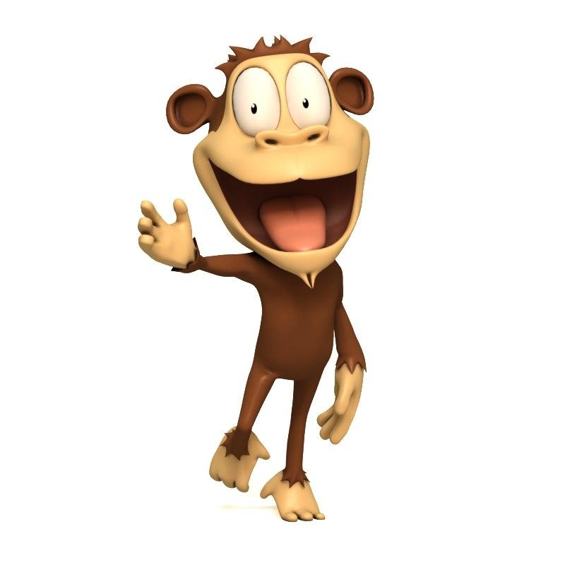 crazy monkey 3d model