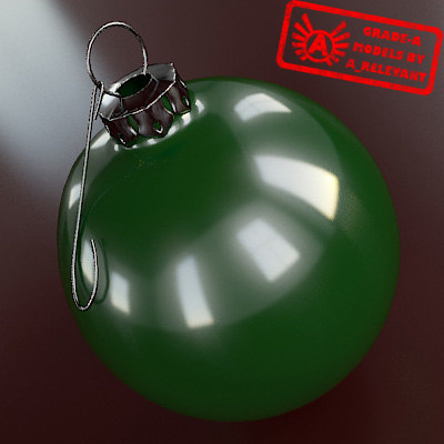 christmas tree ornament 2010 3d 3ds