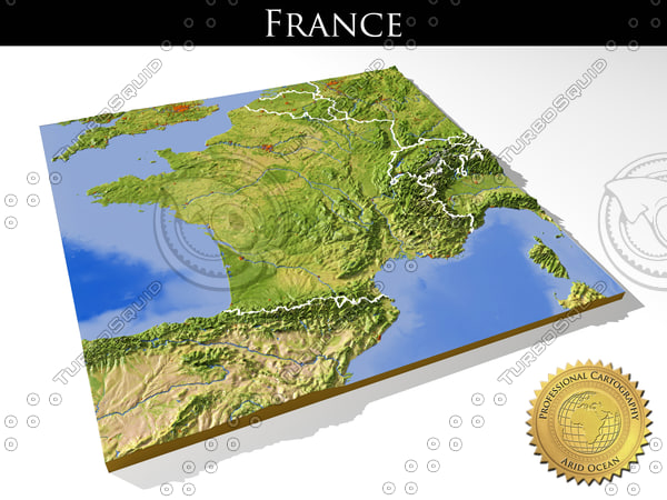 3d relief france