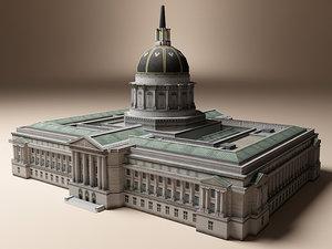 san francisco city hall 3d model