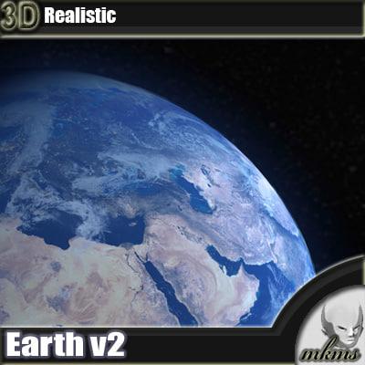 earth v2 3d model
