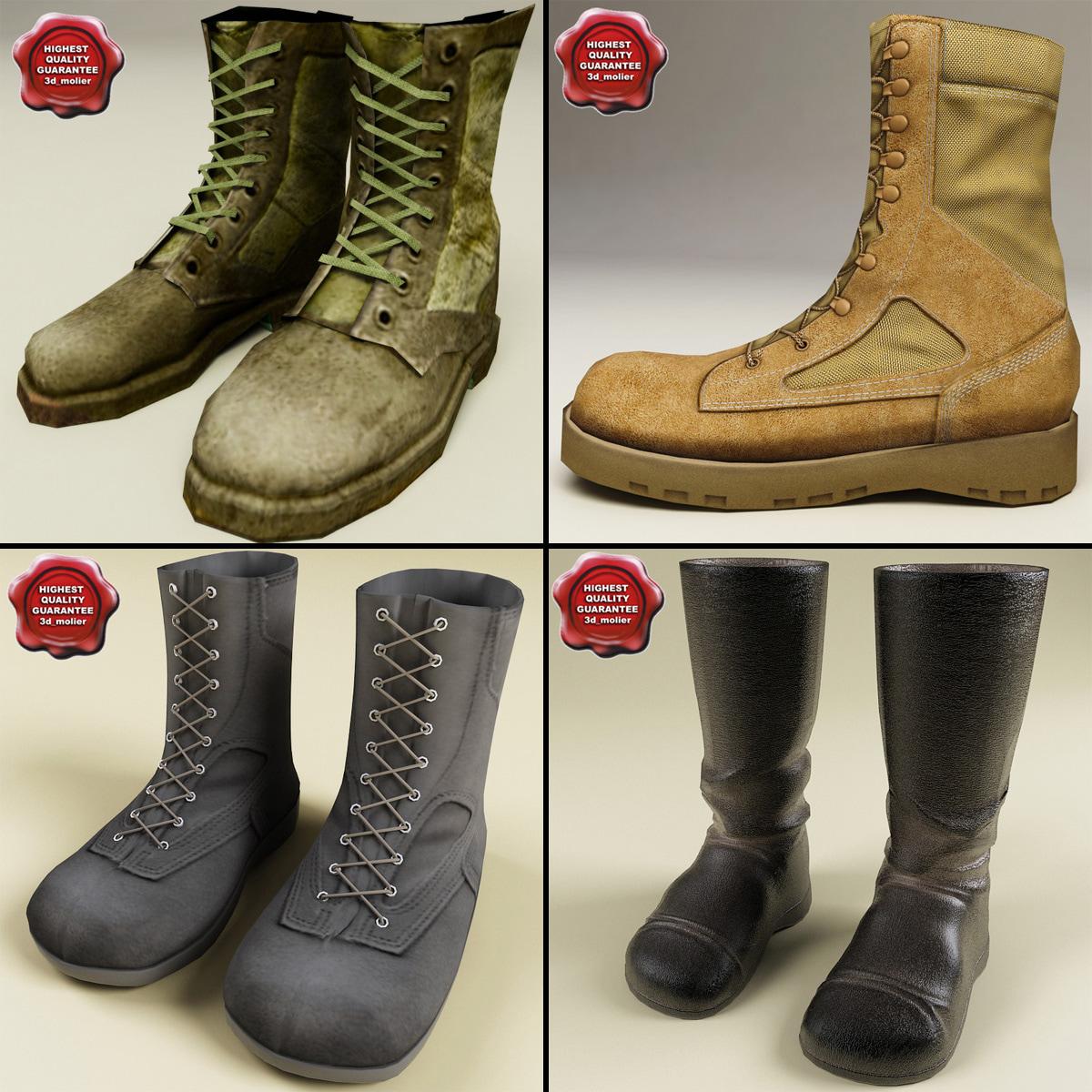 3d soldier boots model