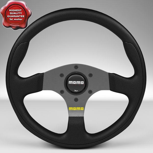 steering wheel momo team 3d model