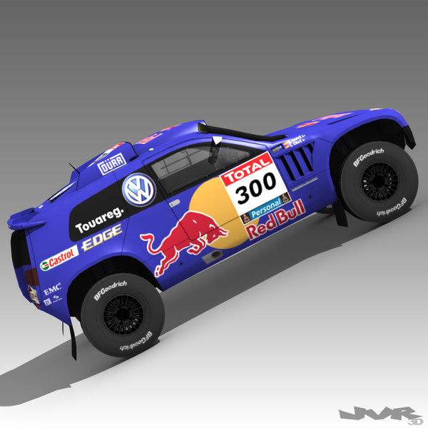 rally volkswagen touareg 3d 3ds
