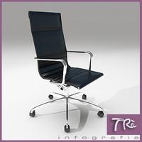 3d max office chair armchair una