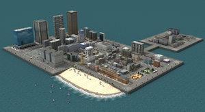 3d city buildings model