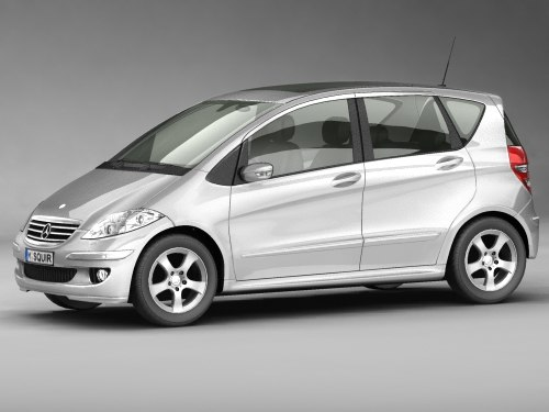 3d model mercedes a-class germany 2006