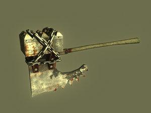 axe resident evil 3d model