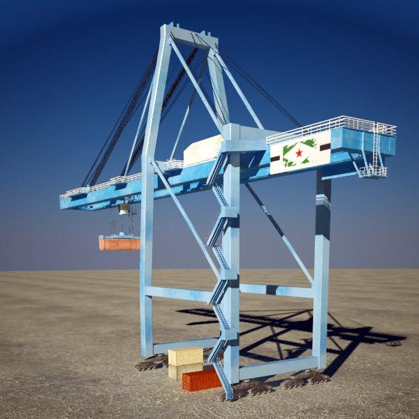 container crane 3d 3ds