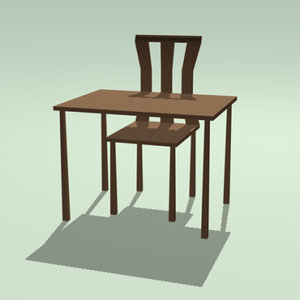 class room table 3ds free
