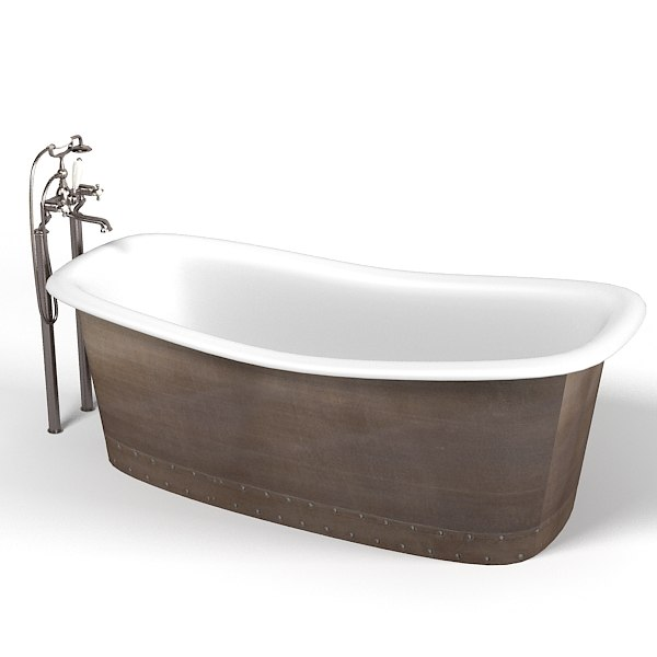 Classic Devon Bath Retro Bathtub On Legs Free Standing Tap English Mixer Brass