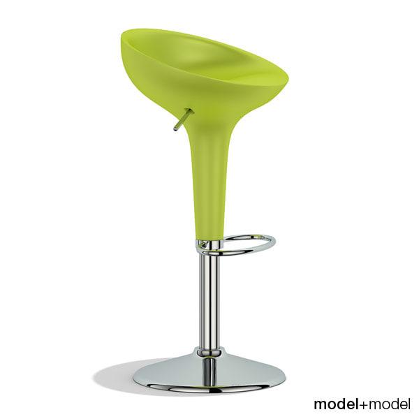 3dsmax bombo stool magis chair
