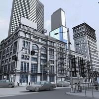 hd block street 3d model