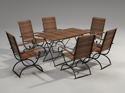 garden furniture set 3d max