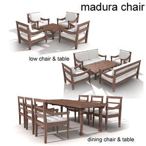 madura teak chair max