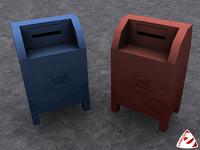 mail mailbox box 3d model