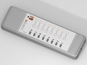 3d model controle remoto
