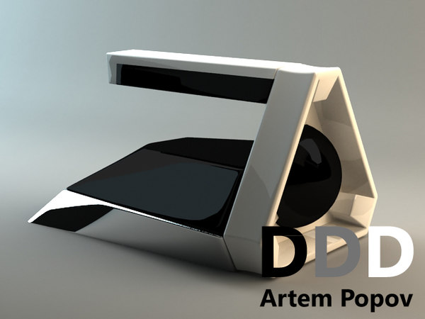 free iron concept 3d model