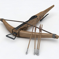 3d crossbow bow medieval