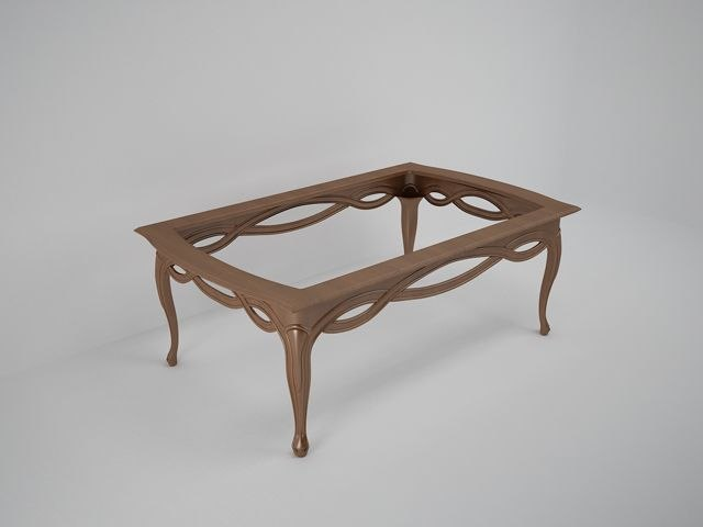 carved coffee table 3d max