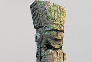 3d stone totem