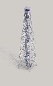 tower 3d obj