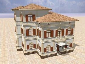 villa carinzia italia 3d c4d