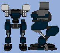 3d model bipedal tank