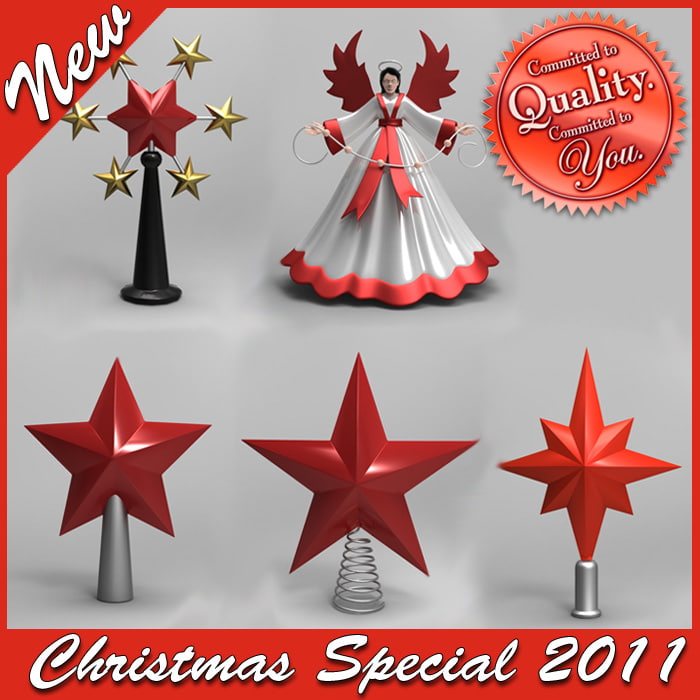christmas tree topper special 3d max