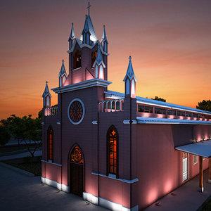 3d latin church model