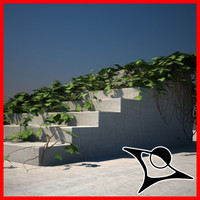 stairs ivy 3d max