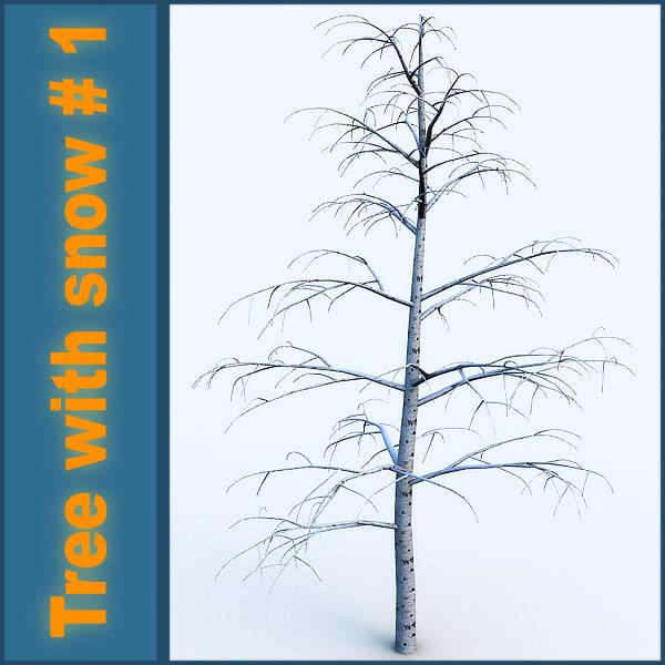 obj snow tree