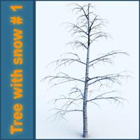 Tree with snow # 1