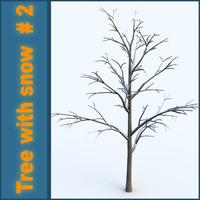 3d model snow tree