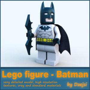 3d lego character - batman model