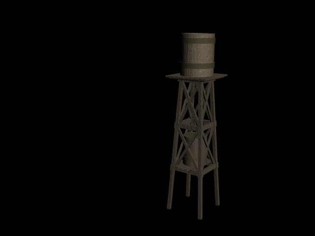 3d western water tower