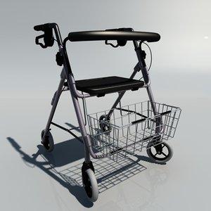 adult rollator 3d model