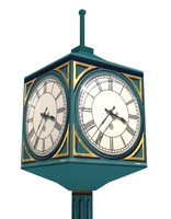 Street clock low poly