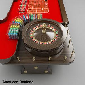 3d model of roulette table american european