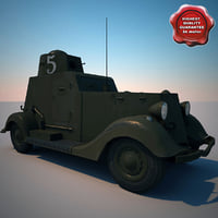 armored car ba-20m v2 obj