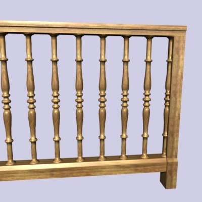 wooden baluster 3d 3ds